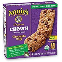 (Annie's Organic Chewy Granola Bars,  Chocolate Chip, .98 oz, 6 Count, 4)