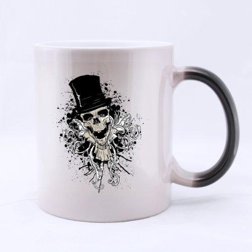 Classic Fashion Cool Halloween Skull Dancing (Twin Side) Magic Surprise Mug Changing Black And White Morphing Mug (11 Oz) for $<!--$12.99-->