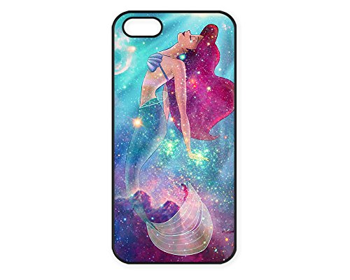 Vogueline Ariel Little Mermaid galaxies Design Hard Case Cover Skin for iphone 6 case iphone 6plus iphone 5 5s 4 4s iphone 5c Samsung Galaxy S5 S3 S4 note 2 note3 note4 (Case for iPhone 5/5s(Black Hard))