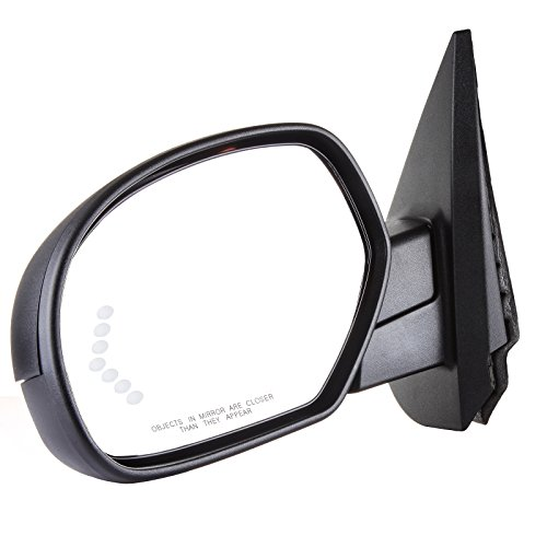 SCITOO Driver Side View Mirrors Heated Memory Puddle Lamp Signal on Glass Power Fold Replacement for Cadillac Chevy GMC Pickup Truck Tahoe Mirror Drivers Side Folding