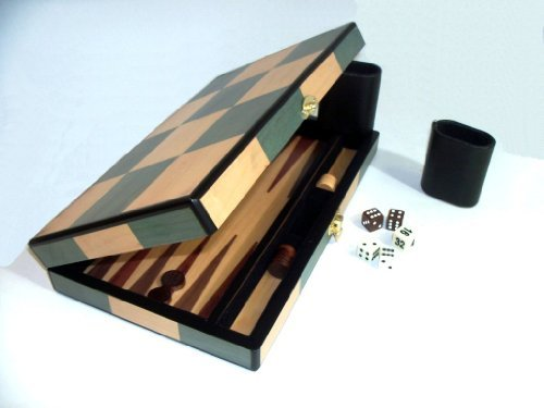 Backgammon Set with Birch and Olive Wood Backgammon Set Materials