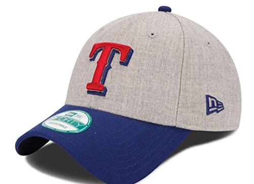 New Era MLB Texas Rangers The League Heather 9Forty Adjustable Cap, One Size, Heather