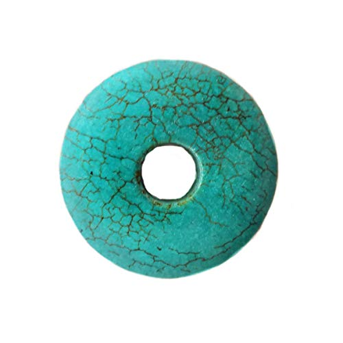 Turquoise Pendant - Donut 40mm (40 Mm Donut)
