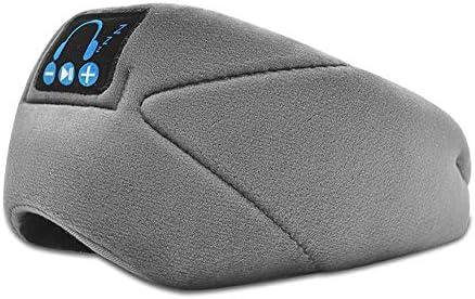 SHARESUN Drahtlose Bluetooth Augenmaske, Schlafmittel Artifact Nicht-Druck-Ohr, Blackout Schlaf Augenmaske, Wireless Bluetooth Over Ear,Grau