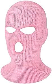 Ewepdwo 3 Hole Winter Knitted Mask Full Face Cover Ski Mask Outdoor Sport Balaclava Cap