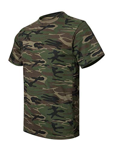 Anvil 939 Adult Camouflage T-Shirt -Camouflage Green - X-Large