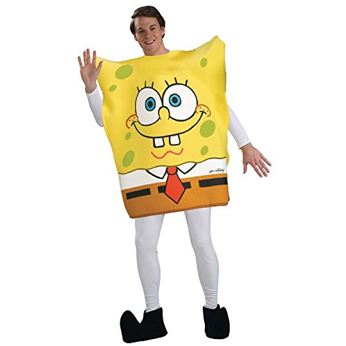 Spongebob Squarepants Costume For Adults (Nickelodeon SpongeBob Square Pants Tunic Costume, Yellow, Standard)