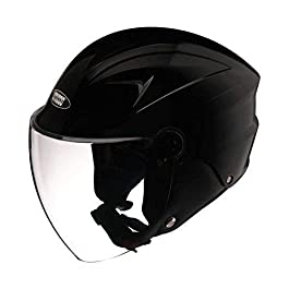 Studds Dude Open Face Helmet (Black, L)