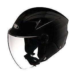 Studds DUDE Open Face Helmet (Black, L)