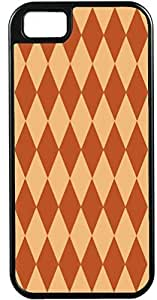 For Iphone 6Plus 5.5Inch Case Cover Diy Gifts Cover Diamond Pattern Brown and Light Brown -Ideal Gift