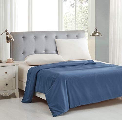 Cheap Chezmoi Collection Cotton Duvet Cover for Weighted Blankets 60x80 Inches - Removable Cover with Button Closure - Riviera Blue Black Friday & Cyber Monday 2019