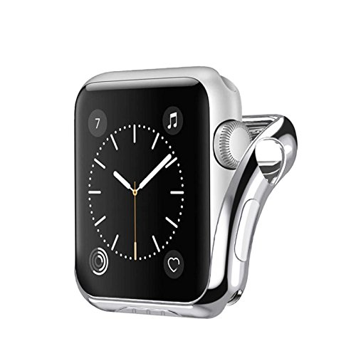 Price comparison product image Owill Compact Ultra Slim Protected Case Cover For Apple Watch Series 2 / 3 42MM,  Invisible Magnetic Closure (Silver)