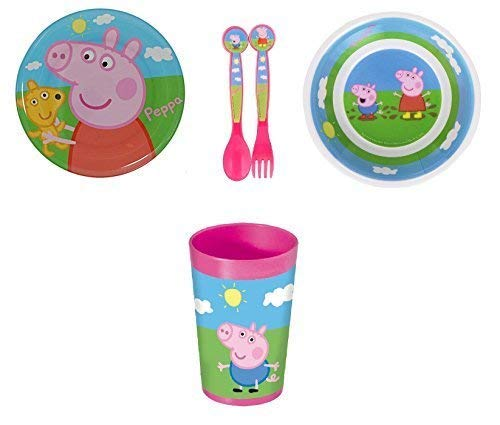 Peppa Pig Plate, Bowl, Tumbler and Cutlery Set BWR