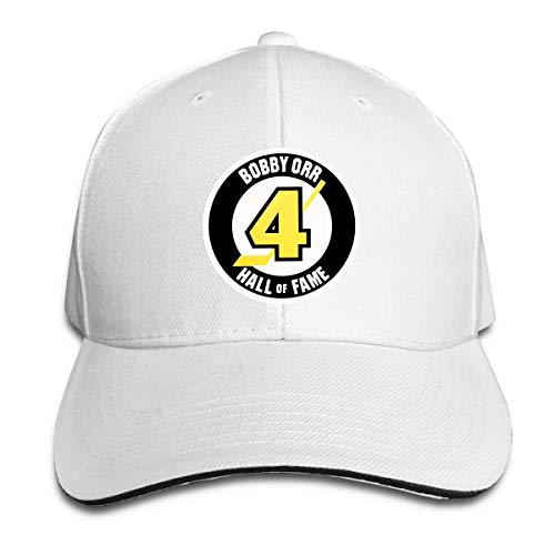 (Unisex Classic Bobby-Orr-Hall-of-Fame-Magnet Adjustable Baseball Cap White)