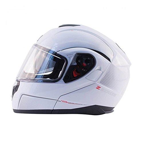 Zox Z-MOD10 Atom Mens Street Motorcycle Helmet - Pearl White - Large