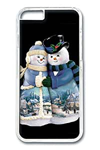 iPhone 6 Case, Snow Couple Custom Hard PC Clear Case Cover Protector for New iPhone 6 4.7inch