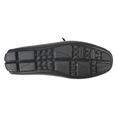Lucius An Hombres Holgazán Zapatos Slip On Zapatos De Ópalo Llano Zapatos De Conducción Mocasines Bit Apt308-4 Gris Negro