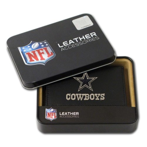 Leather Dallas Cowboys Embroidered Wallet - Dallas Cowboys Embroidered Leather Tri-Fold Wallet