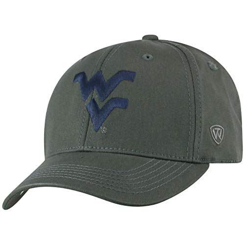 Top of the World West Virginia Mountaineers Men's Fitted Hat Icon, Charcoal, One Fit