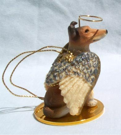 Collie Angel Dog Ornament - Smooth by Conversation Concepts (Ornament Dog Collie Angel)