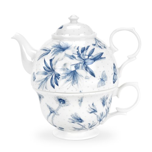Botanic Blue Tea Set - Portmeirion Botanic Blue Tea For One Set