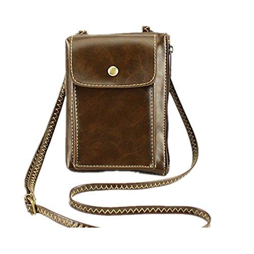 Pockets Bag Bag Cell Bag Phone Roomy coffee BBG S Wallet TM Purse Crossbody Mini Travel 00YxHIO