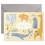 Hallmark Baby Shower Thank You Cards, Painted Animals (20 Cards with Envelopes for Baby Boy or Baby Girl) Elephant, Koala, Giraffe, Whale, Turtle