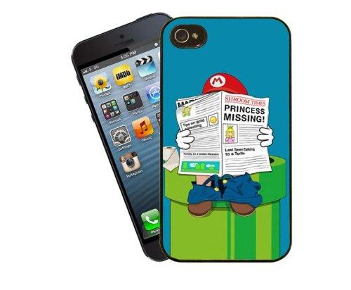 Mario auf der Toilette, witzige Handy-Hülle für iPhone 4 / 4 s - Cover von Eclipse-Geschenkideen