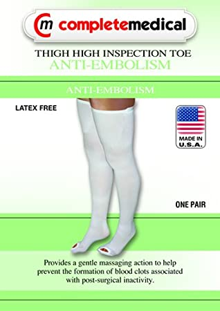 2fd5bfe68d Anti-Embolism Stockings Sm/Lng 15-20mmHg Thigh Hi Insp. Toe Anti-Embolism  Stockings Sm/Lng 15-20mmH: Amazon.co.uk: Health & Personal Care