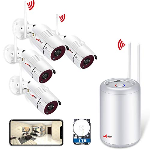Wireless Security Camera System, ANRAN 4CH 1080P Video...