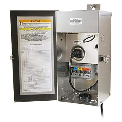 Lightkiwi C6449 150 Watt Heavy-Duty Stainless Steel (12V-13V-14V-15V) Multi-Tap Low Voltage Transformer for Landscape Lighting