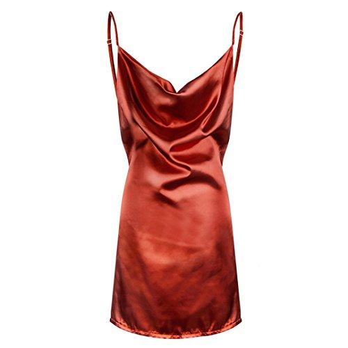 Marron Elgante Femmes de Femme sans Sexy Robe Robe Chic Tunique Soiree de Partie Manches Bandage des Mini Robe Guesspower Cocktail qXHgSUwXR