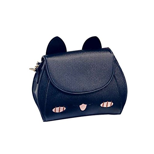 PU Cross coréen fille sac Lady sac Noir Messenger Mengonee Bag à main femmes Cat belle Bag à Body visage bandoulière Style cuir vxnz56q