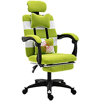 Desk Chairs Study Computer Chair Home Office Chair Company Staff Chair Living Room Lift Swivel Chair Student seat E-Sports Chair (Color : Green, ...