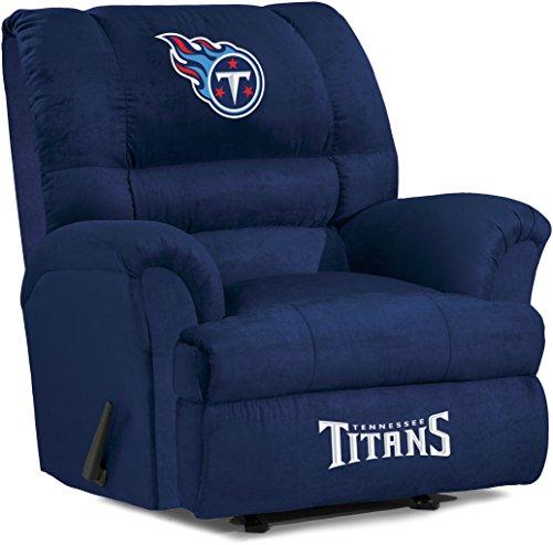 Licensed NFL Furniture: Big Daddy Microfiber Rocker Recliner, Tennessee Titans ()
