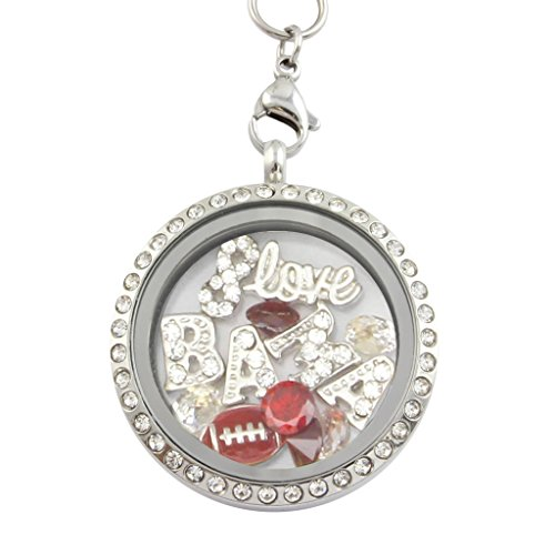 University of Alabama Crimson Tide Charm Locket Necklace Stainless (Best College Mascot Costumes)