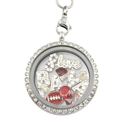 University of Alabama Crimson Tide Charm Locket Necklace Stainless Steel (Alabama Mascot Costume)