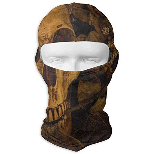 YIXKC Balaclava Vintage Horrible Skull Stylish Face Mask for Men Snowboarding ()