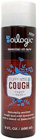 Oilogic Stuffy Nose & Cough Vapor Bath for Babies and Toddlers, 9 oz Each (Pack of 3)