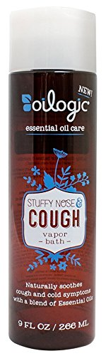 (Oilogic Stuffy Nose & Cough Vapor Bath for Babies and Toddlers, 9 oz Each (Pack of 2))