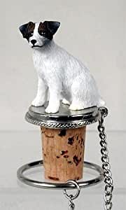 Jack Russell Terrier Rough Brown & White Dog Wine Bottle Stopper - DTB63A