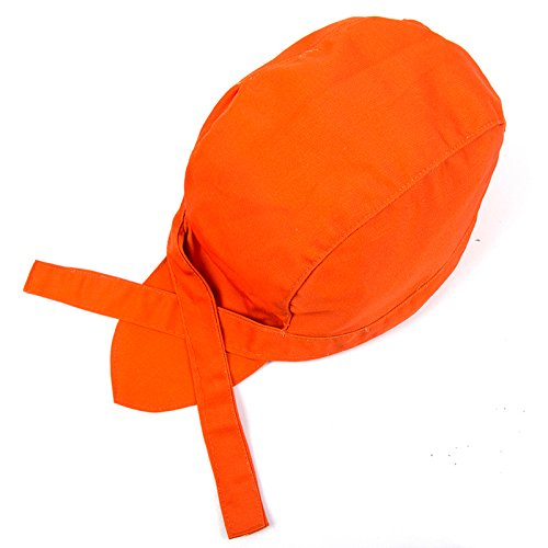 Home-organizer Tech Chef Clothing Accessories Stain Resistant Non-fading Chefs Hat Adjustable Cap (Orange)