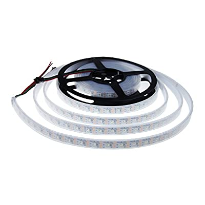 Aclorol WS2812B Addressable LED Strip Light 5V 60 Pixels/M, WS2812B 16.4ft Individually Addressable 300 Pixels 5050 SMD RGB Dream Color Flexible LED Strip WS2812 IP67 Tube Waterproof