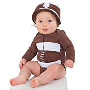 juDanzy Long Sleeve Football Bodysuit (0-3 Months)