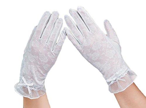 [ジャング] 夏 手袋 UV手袋 日焼け止め UVカット アウトドア スポーツ 自転車 指あり 薄手 レディース