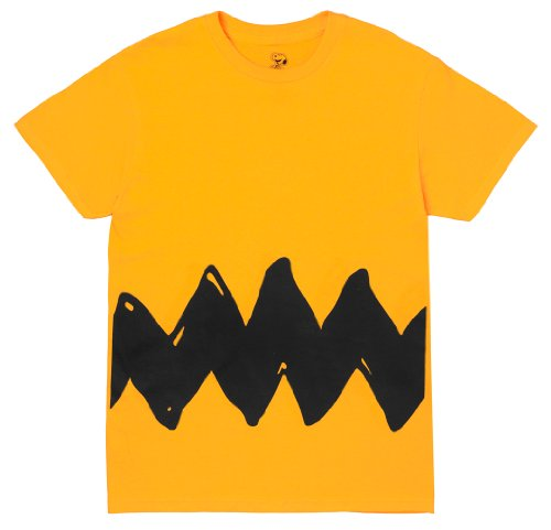 Sally Charlie Brown - Peanuts Charlie Brown Double Sided Zig Zag Costume Shirt (Large)