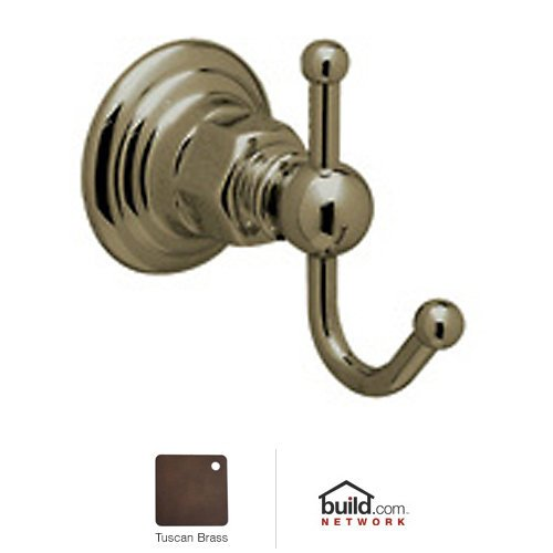 Rohl ROT7TCB Country Bath Single Robe Hook in Tuscan Brass by Rohl