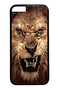 Custom DIY Case for iphone 6 Plus, Big Face Roaring Lion Hard PC Back Protective Case for iphone 6 Plus 5.5