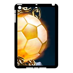 wugdiy DIY Protective Snap-on Hard Back Case Cover for iPad Mini with Fire Football Soccer ball