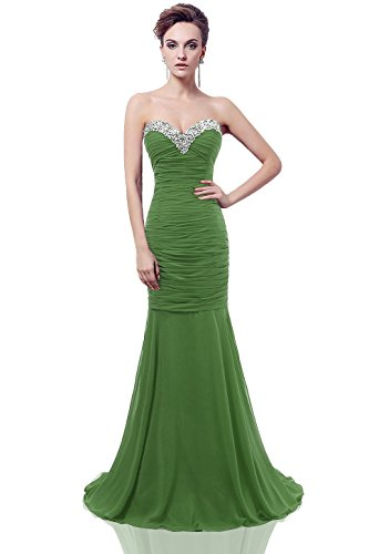 7ef70c1c5a3e Medon's Women's Mermaid Long Chiffon Prom Evening Party Dresses(18w, Dark  Green)